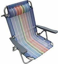 Homecall Klappbarer Strandstuhl mit verstellbarer