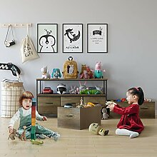 HOMECHO Spielzeugregal Aufbewahrungsregal mit 3
