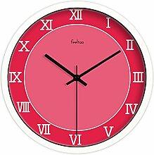 HomeClock Pink Art Uhr römische Ziffern