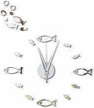 HomeClock Wanddekoration stumm Wandaufkleber Uhr