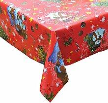 Homecomoda Weihnachtstischdecke Rot Plastik