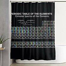 homect Duschvorhang aus Polyester, Periodensystem