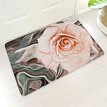 Homedb Rosa Rosen Blumen Malerei Druck Fußmatte