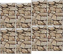 HomeDecTime Steintapete 3D Optik Tapete Fototapete