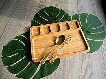 HomeDelightDe Bambus Teller Servierteller Geteilt