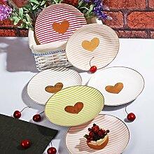 HomeDelightDe Kuchenteller Teller Dessertteller