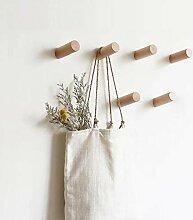 HomeDo Kleiderhaken aus Holz, Wandmontage,