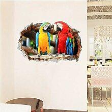 Homedou 3D Tier Papagei Kaputt Fenster