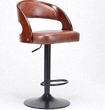 HOMEE Amerikanische Mode-Bar kann gedreht werden Sofa Hocker europäischen Aufzug Stuhl hohen Stuhl (Farbe optional),5
