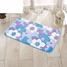 HOMEE Fußmatten / Fußauflage / Innenmatten / Schlafzimmer / Küche / Halle / Bad Wassersägen Matten / Bad Nonlip Matten,A,45X120Cm (18X47Inch)