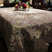 HOMEE Lila Stoff Tischtuch Tischtuch Tischtuch Weihnachtsschmuck,135 * 180cm