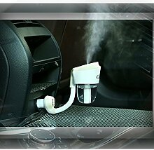HOMEE Multifunktions-Luftbefeuchter Auto Aroma Spray Luftreiniger Auto-Ladegerät portable,Weiß