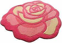 HOMEE Rose Art Teppich handgefertigte Matten geheimnisvolle Matte Stuhl Matten Türmatten Fußauflage hängen blau runden Teppich