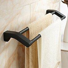 HOMEE Schwarz Minimalist Handtuchhalter Bad Handtuchhalter Badezimmer Rack