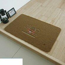 HOMEE Stickerei Türmatten / Wohnzimmer Türmatten / Küche Skid Absorbent Pad Staub / Bad / WC Türmatten / Fußauflage,P,A