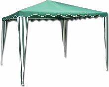 homegarden Pavillon aus Stahl mit Top-Abdeckung Grün 3x 3Meter