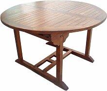 HOMEGARDEN Tisch Rund Gartentisch aus Holz mit