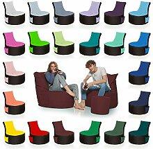 HomeIdeal - 2Farbiger Gamer Sitzsack Lounge für