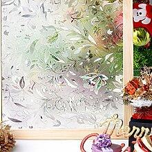 Homein 3D Fensterfolie Selbsthaftend Klebefolie