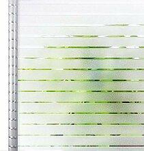 Homein Fensterfolie Streifen Sichtschutzfolie