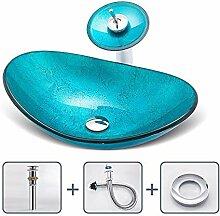 HomeLava Aufsatz-Waschbecken Handwaschbecken Glas