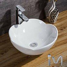 HomeLava Aufsatzwaschbecken Keramik Waschbecken