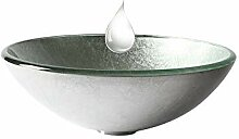 HomeLava Aufsatzwaschbecken Rund aus Gehärtetes