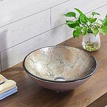 HomeLava Gehärtetes Glas Aufsatz-Waschbecken