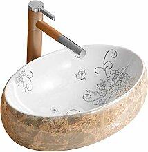 HomeLava Keramik Waschbecken mit Pop up