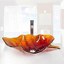 Homelava Modern Gehärtetes Glas Waschbecken Blatt
