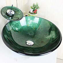 Homelava Modern Gehärtetes Glas Waschbecken mit
