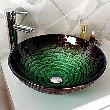 HomeLava Modern Rund Grün Gehärtetes Glas