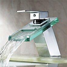 HomeLava Moderne Waschtischarmatur Glas Wasserfall