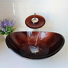 HomeLava Set aus Waschbecken aus Gehärtetes Glas