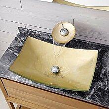 HomeLava Waschbecken Aufsatz Glas