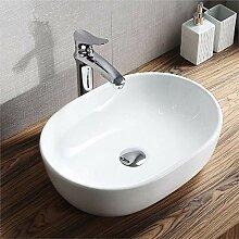 HomeLava Waschbecken Aufsatzwaschbecken Keramik