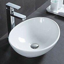 HomeLava Waschbecken Aufsatzwaschbecken mit Pop up