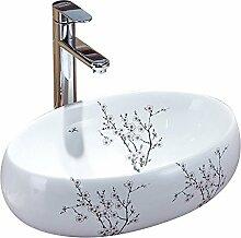 HomeLava Waschbecken Weiß Keramik