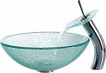 Homelavafans Gehärtetes Glas Waschbecken mit