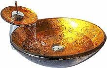 Homelavafans Modern Waschbecken Set Rund Gold
