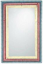 Homeline Metall-Wandspiegel mit drei Farben.(85 x 57 x 4,5 cm)