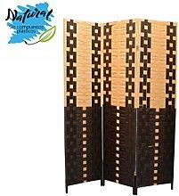Homeline Paravent aus Bambus und Papier Geflochten