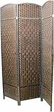 Homeline Paravent Bambus Natur Kirsche - 3 paneles