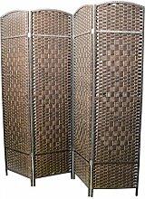Homeline Paravent Bambus Natur Kirsche - 4 Paneles