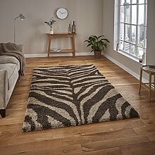 HomeLinenStore Moderner Zottelteppich/Teppich mit