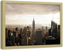 HomeLiving Bild mit Rahmen New York City Panorama,