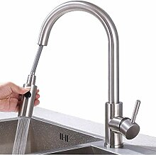 HOMELODY 2-Strahlen Wasserhahn Küche ausziehbar