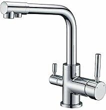 Homelody 3 Wege Wasserhahn für Wasserfilter