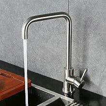 Homelody 360° Drehbar Küchenarmatur Edelstahl Spültischarmatur Einhebelmischer Armatur Küche Wasserhahn Spüle Spülbecken Mischbatterie f. Küchen