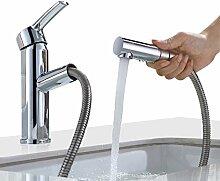 Homelody Armatur Bad Wasserhahn mit ausziehbarem